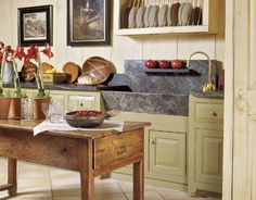 Loving the soap stone farmhouse sink!