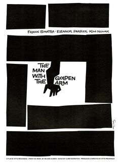 American Graphic Arts Legend, Saul Bass, would have been 94 today: MD_BassS_GoldenArm_640.jpg
