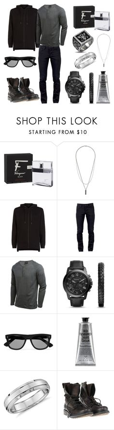 """Без названия #3879"" by southerncomfort ❤ liked on Polyvore featuring Salvatore Ferragamo, Topman, Blood Brother, Kill City, NIKE, FOSSIL, Cutler and Gross, Triumph & Disaster, Blue Nile and Superdry"