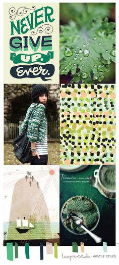 loveprintstudio: Colour crush (fifty shades of green)...