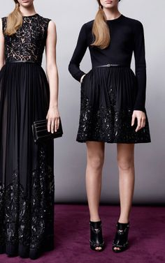 Embroidered Black Silk Georgette Gown by Elie Saab - Moda Operandi