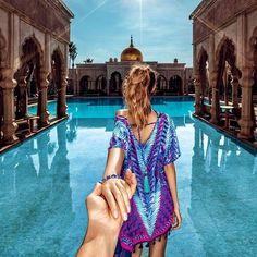 Marrakech (the photo series by Russian Photographer, Murad Osmann) Cheap Honeymoon Destinations, Best Honeymoon, Murad Osmann, Luxury Lifestyle Women, Photo Couple, Belle Photo, Night Skies, Girl Photos, Fashion Outfits