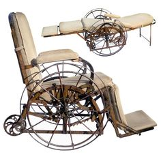 Silla de ruedas abatible a cama de Wilson (1871)>>> See it. Believe it. Do it. Watch thousands of spinal cord injury videos at SPINALpedia.com