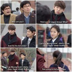 Those two are so funny the heirs ep 16 Heirs Korean Drama, Korean Drama Funny, Korean Drama Quotes, The Heirs, Korean Dramas, Drama Fever, Drama Drama, Kdrama Memes, Japanese Drama