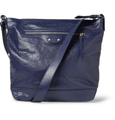 BalenciagaDay Creased-Leather Messenger Bag|MR PORTER