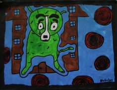 My Dog Created after studies of George Rodrique's  Blue Dog Pre-primary - Year 6