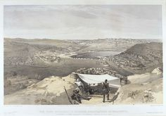 'The Town Batteries or Interior Fortifications of Sebastopol', by William Simpson, 1854 (lithograph). William Simpson (1823-99) was a Scottish painter who became noted for his depictions of the Crimean War (1853-6)