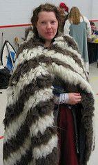 Striped shaggy cloak.  Save the rya!