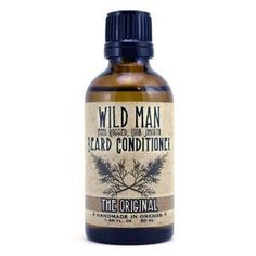 "Wild Man Beard Conditioning Oil - The Original (30ml/1 fl. oz) by Wild Man. $11.95. keeps skin and beard feeling smooth and non-greasy. ""The Original""  Wild Man Beard Conditioner. all natural oil-based beard softener that is meant to be left in the beard. ""Feel Rugged. Look Smooth"". mimics your skin's natural moisturizers, absorbs quickly, strengthens hair and leaves your beard with a subtle shine and soft feel.. Grapeseed Oil (unlike olive) mimics your skin's natural..."