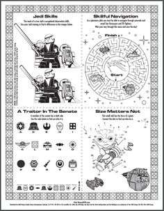 Star Wars Printables Coloring Activities