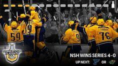 The Preds sweep the Hawks. Hockey Teams, Hockey Stuff, Predators Hockey, Stanley Cup Playoffs, Nhl, Nashville, Hawks, Peregrine, Northern Goshawk