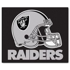 """The Oakland Raiders Tailgater Area Rug by FanMats measures 60""""x72"""""""