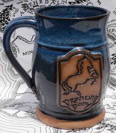 Special Order Prancing Pony ceramic handmade mug by FunctionalMud