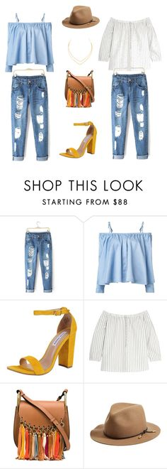 """Get in my closet."" by jeanette-tinoco on Polyvore featuring Sandy Liang, Steve Madden, Madewell, Chloé, rag & bone and Lana"