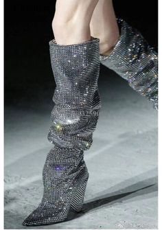 Boots 768919336354055125 - 13 Slouch Boots to Try If You Love Saint Laurent's Wait-Listed Rhinestone Pair – Vogue Source by huseyingursoy High Heel Boots, Heeled Boots, Shoe Boots, Ysl Boots, High Heels, Ankle Boots, Me Too Shoes, 2000s Fashion Trends, Fashion Shoes