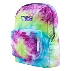 JANSPORT To Dye For Backpack ($50) ❤ liked on Polyvore featuring bags, backpacks, backpack, accessories, jansport, jansport rucksack, polyester backpack, padded backpack and knapsack bags