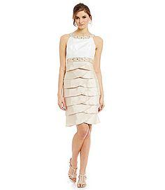 Jessica Howard Sleeveless Beaded Yoke Dress #Dillards