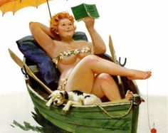 Wall Art Print- Art Reproduction Vintage Sexy Pin-up Girl Vintage Sexy Plus-size…