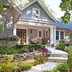 Front Porch Decor Ranch Home Style , Porch Ranch Home Style In Home Design and Decor Category