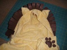 This and That Creative Blog: Hooded Lion Towel