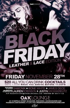 Black Friday: Leather and Lace Edition at Oak Lounge Milwaukee this Friday night