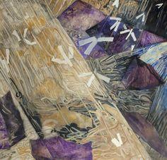 Sea, Light, Rocks, Birds by Norman Adams, 1974, Oil on canvas, 200 x 213 cm, Peter Scott Gallery