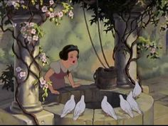 Snow White and the Seven Dwarfs the wishing well Disney Princess Wiki, Disney Wiki, Disney Magic, Disney Princesses, First Animation, Disney Animation, Animation Film, Disney Songs, Disney Movies
