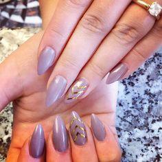 Simple almond nails with metallic chevron #simplenails #almondnails #almondshape #prettynails #nails #nailart #nailpro #nailedit #nailgasm #nailguru #nailideas #nailporn #nailtrends #naildesigns #nailstagram #nailaddiction #nails2inspire #nailsofinstagram #thehautespot #atlanta #atlantanailsalon #summer #summertrends #fashionista