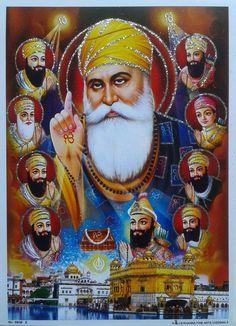 Guru Nanak Photo, Guru Nanak Ji, Nanak Dev Ji, Guru Granth Sahib Quotes, Shri Guru Granth Sahib, Golden Temple Wallpaper, Guru Hargobind, Guru Nanak Teachings, All God Images