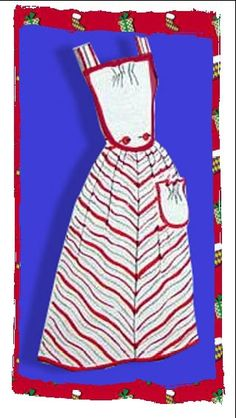 Free 1940 style bib apron pattern - made from repurposed dresses