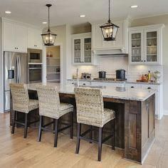 5 Masterful Cool Ideas: Kitchen Remodel Contemporary Dark Cabinets old farmhouse kitchen Galley Kitchen Remodel small kitchen remodel country.Old Kitchen Remodel Granite. Kitchen Island Decor, Rustic Kitchen, New Kitchen, Neutral Kitchen, Kitchen Ideas, Kitchen Islands, Long Kitchen, Kitchen Cabinets, Rustic Farmhouse