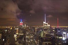 New York City skyline at night from Rockefeller Center
