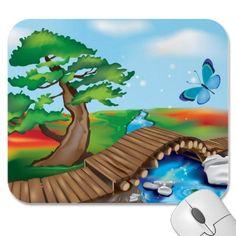 Wooden Bridge in Zen Landscape @ crazycolors' zazzle store! ^_^