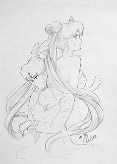 Arte Sailor Moon, Sailor Chibi Moon, Moon Sketches, Drawing Sketches, Sailor Moon Coloring Pages, Lion King Drawings, Princesa Serenity, Moon Drawing, Sailor Moon Aesthetic