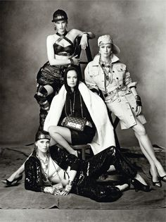 Carolyn, Karen, Raquel, Stella, Saskia + Linda by Steven Meisel for Moschino Fall 2014