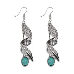 Turquoise Earrings Silver Plated Retro Synthetic And Pendant Necklace Earrings Bracelet Jewelry Set