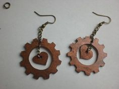 boucles d'oreilles steampunk en plastique fou