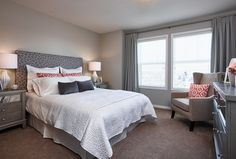 Amble Townhome Showhome - Gateway at Williamstown in Airdrie Alberta Townhouse, Bed, Furniture, Design, Home Decor, Decoration Home, Terraced House, Stream Bed, Room Decor