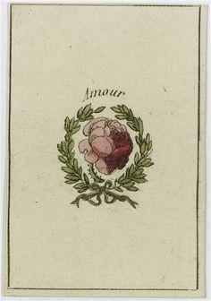 Jeu de Bayard (titre d'usage) : Amour, as de rose, 1816 - Réunion des Musées Nationaux-Grand Palais -