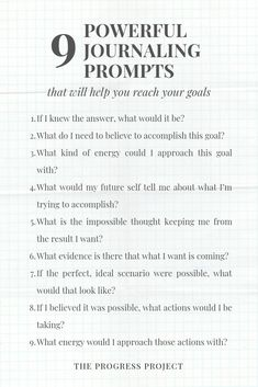 These 9 journaling prompts will get you started in your own process of self-inquiry & help you reach your goals! Gratitude Journal Prompts, Goal Journal, Bullet Journal, Journal Ideas, Journal Questions, Therapy Journal, Mental Health Journal, Self Care Activities, Self Development
