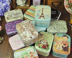 Square multi-pattern storage candy tin box metal  portable pill box small kit storage false eyelash small storage box  #Affiliate