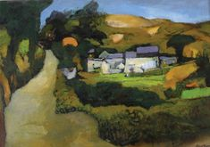 Dyfed Farm John Elwyn Mixed media 1989 31 x 45 cm