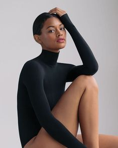 A bodysuit so simple it goes with everything! What you can't see is how comfortable this butter material is! Stop by and check it out! Ketchum Idaho, Sniper Training, Assets By Spanx, Sun Valley, Shapewear, Bodysuit, High Neck Dress, Luxury, Chic