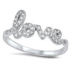 VE-01096 Sterling Silver Love Cubic Zirconia CZ Band Ring (9) #Jinique http://www.amazon.com/dp/B00PSYZOV8/ref=cm_sw_r_pi_dp_chUewb1S65MHG