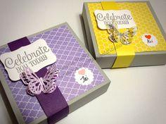 Custom stationary boxes made using the Envelope Punch Board. www.facebook.com/MarigoldStudio