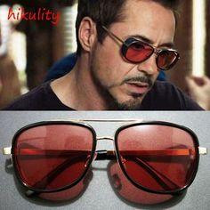 Iron Man 3 Tony Stark Sunglasses for Men Super Soldier Gothic Glasses Male  Steampunk Goggles Sun 4b186cf9d5275