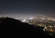 Seoul 서울 from Namsan (next to N Seoul Tower 엔서울타워 oder N서울타워, En Seoul Tawo) by night