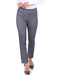 Popana Womens Stretch Pull On Dress Pants Ankle Length Work Casual – Made in USA – Women Fashion Ideas Women's Pants, Pull On Pants, Dress Pants, Pixie Pants, Pixie Styles, Pants For Women, Clothes For Women, Work Casual, Ankle Length