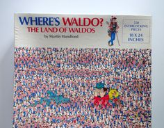 Vintage Where's Waldo 550 Piece Jigsaw Puzzle by WylieOwlVintage, $10.00