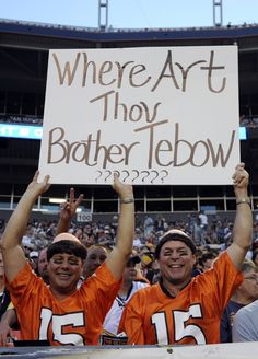 """Where Art Thou Brother Tebow?"""